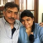 Prakash Jha with his daughter