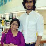 Pranav Sahai with his Mother