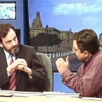 Prannoy Roy (L) and Vinod Dua (R) on DD News During Election Analysis (1984)