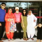 Preet Kaur with her family