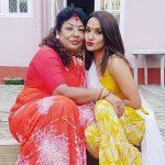Priyanka Karki with her mother