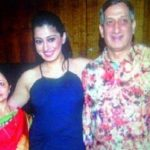 Raai Laxmi with her parents