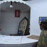 Rampal 12 Feet High Chair Inside a Bulletproof Cabin
