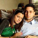 Rangoli Chandel with her husband