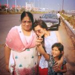 Renee Dhyani with mother