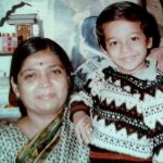 Sachin Parikh (Childhood) with his mother