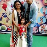 Sachin Parikh with his wife Venu S Parikh and daughter Naisargi Parikh