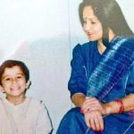 Sahil Salathia with mother