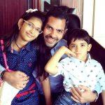 Samaira Kapoor with her father Sanjay Kapur and brother Kiaan Raj Kapoor
