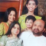 Sameer With His Wife and Children