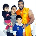 Sangram Chougule with his wife and children
