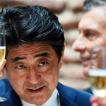 Shinzo Abe Drinking Alcohol