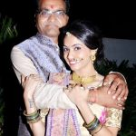 Shivani Patel with her father