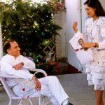 Simi Garewal with Rajiv Gandhi