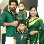 Siva Balaji with his wife and sons