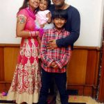 Svar Kamble with his family