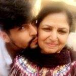 Tarun Nihalani with his mother