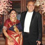 Tej Sapru with his wife Dhanalakshmi Sapru