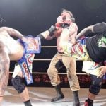 The Usos Double Sperkick finisher