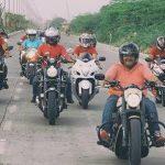 Tiku Talsania riding a Harley-Davidson