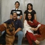 Tiku Talsania with family