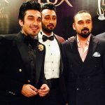 Umair Jaswal (C) With His Brothers Uzair Jaswal (L) and Yasir Jaswal (R)