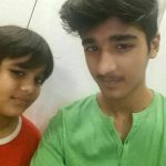 Uzair Basar with his brother