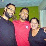VJ Andy with his brother Pravesh Kumar and sister Geeta Kholia