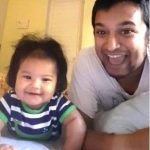 VJ Hoezaay with her daughter Chloe