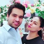 Veena Malik with her husband