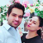 Veena Malik with her husband