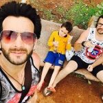 Vineet Raina with brother and nephew