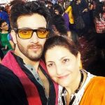 Vineet Raina with mother