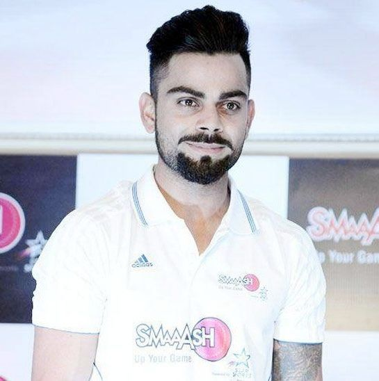Virat Kohli - A full goatee with detached mustache beard style