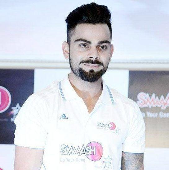 Virat Kohli - A full goatee with detached mustache beard style
