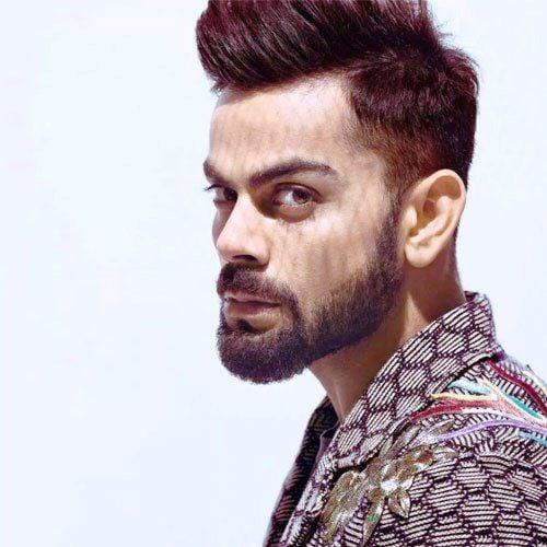 Virat Kohli - Long stubble beard style
