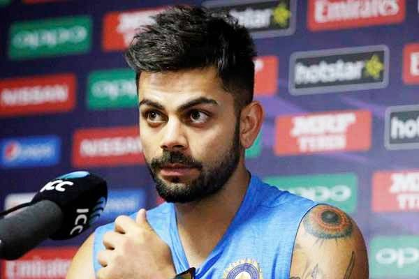Virat Kohli - Thick & medium sides quiff hairstyle