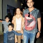 Zayed Khan With His Wife And Sons