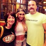 wrestler Carmella with her parents