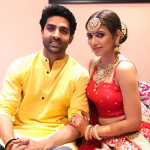 Adhvik Mahajan with his wife