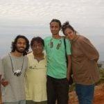 Advait Chandan with his family