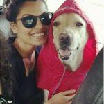Akansha Thakur with her dog