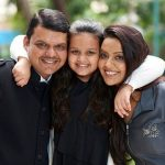 Amruta Fadnavis With Her Husband and Daughter