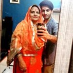 Arjun Manhas with his mother