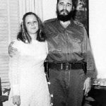 Fidel Castro with his daughter Alina