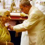 Girija Devi With Padma Vibhushan