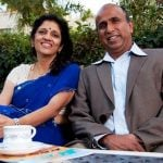 Krishnan Ganesh with wife Meena Ganesh