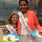 Madhu Valli after winning Miss Piedmont Regions Teen (2014)