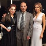 Mozhdah Jamalzadah with her parents