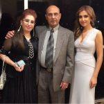 Mozhdah Jamalzadah with her parents